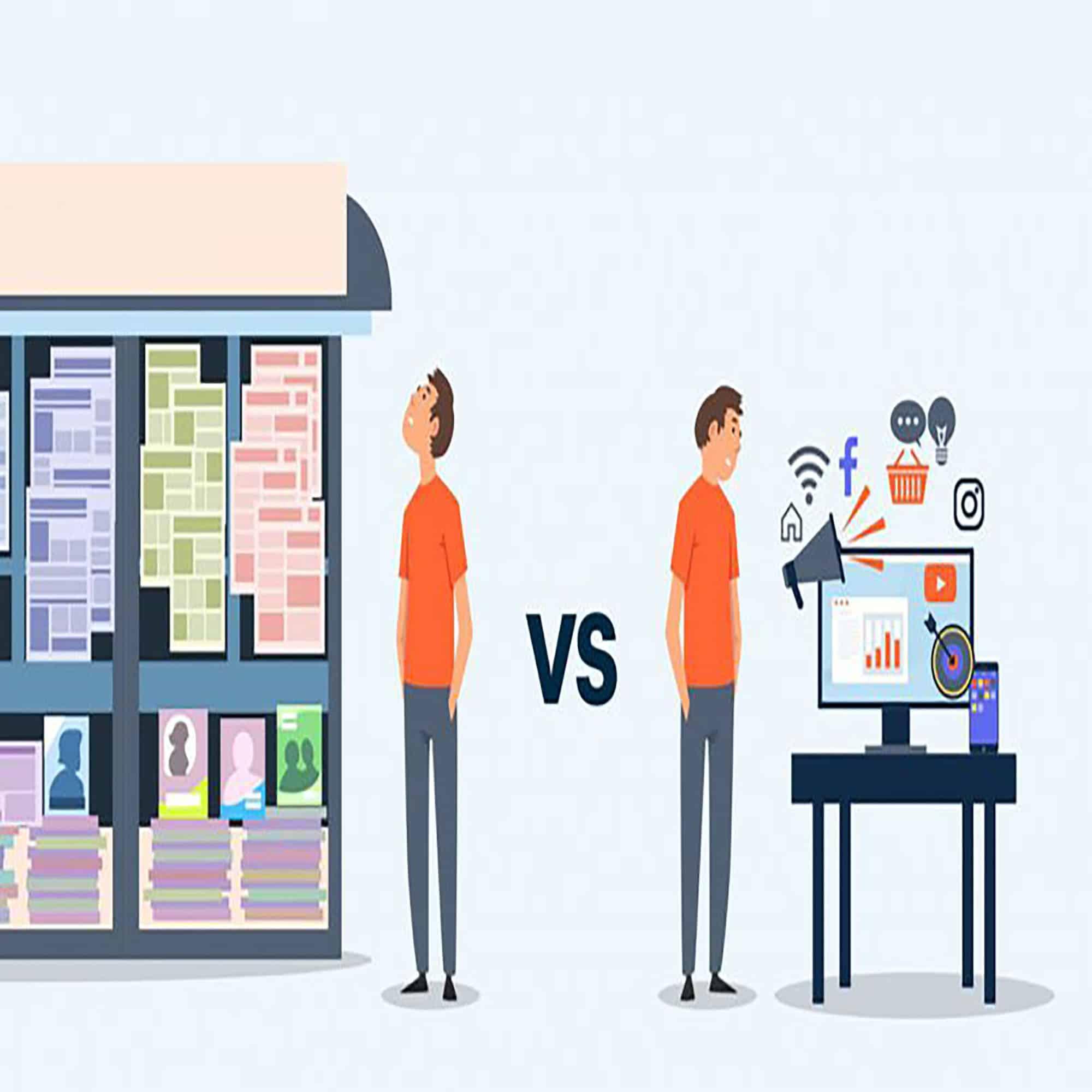 مقایسه ی بازاریابی اینترنتی و تبلیغات سنتی
